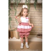 Комплект   платье-туничка и шорты  для девочки