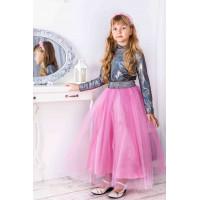 Длинная фатиновая юбка для девочки