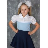 Блузка для девочки трикотажная школьная