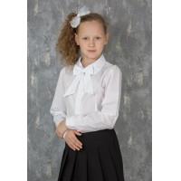 Блузка для девочкишкольная с гипюром