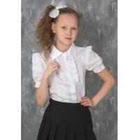 Блузка для девочки хлопковая школьная