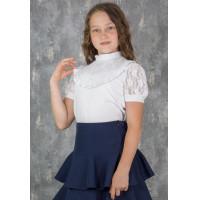 Джемпер для девочки  школьный трикотажный