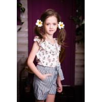 Блузка летняя хлопковая  для девочки