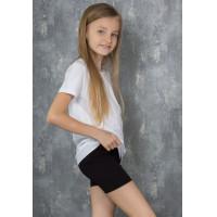 Шорты на девочку узкого кроя из эластичной ткани