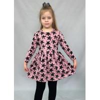 Платье для девочки на весну из модного футера