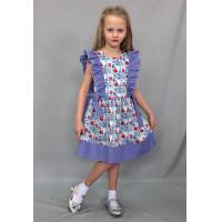 Летнее платье для девочки на лето с воланами