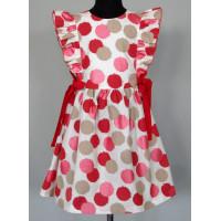 Платье для девочки  из красочной набивной ткани