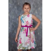 Летнее платья для девочки из поплина