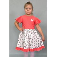 Летнее платья для девочки с рукавами крылышками