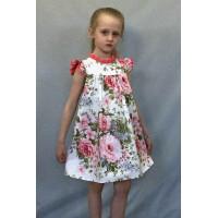 Платье для девочки хлопковое из поплина
