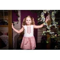 Платье для девочки трикотаж и хлопок стильно