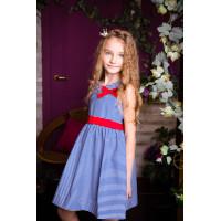 Замечательное платье в морском стиле  для девочки