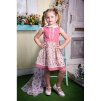 Платье хлопковое для маленьких модниц