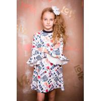 Трикотажное озорное платье для девочек