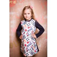 Повседневное трикотажное платье  для девочки