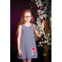 Платье летнее трикотажное для девочки