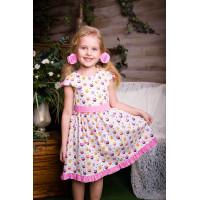 Платье для девочек с совами