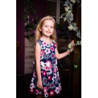 Платье текстильное в цветочек