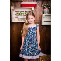 Платье красивое с пышной юбкой и кружевом  для девочки