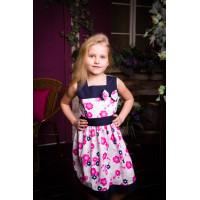 Платье-сарафан летнее  хлопковое для девочки