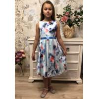 Атласное платье для девочки подростка