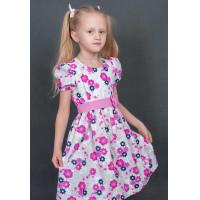 Летнее платье в горошек для девочки