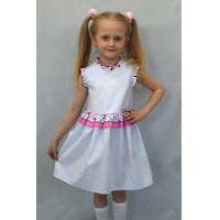 Нежное летнее платье для девочки в полоску
