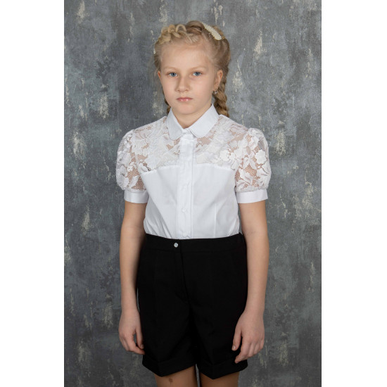 Школьная блузка  для девочки - 1