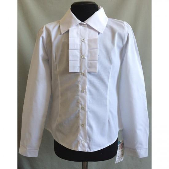 Блузка для девочки с отложным воротником - 1