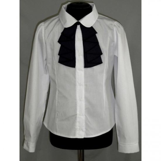 Блузка для девочки полуприталенная - 1