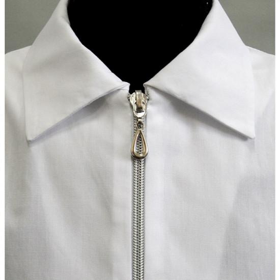 Блузка для девочки хлопковая школьная - 1
