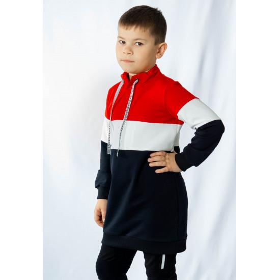 Джемпер удлиненный  для девочки и мальчика - 1