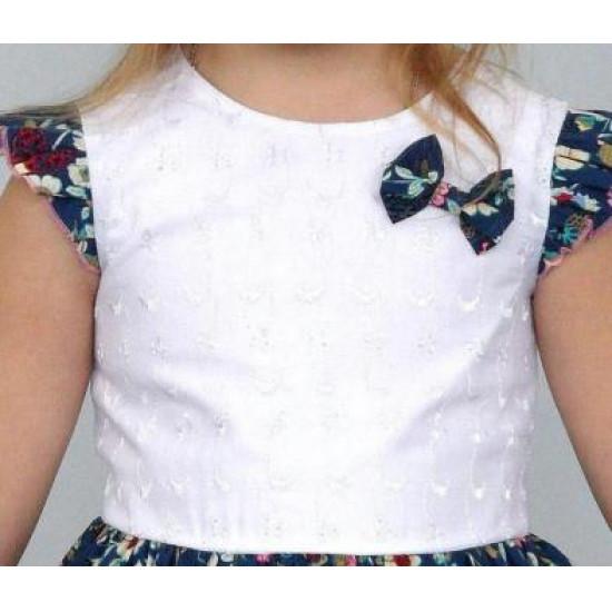 Текстильное платье для девочки - 1