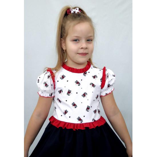 Летнее платье для девочки из поплина - 1