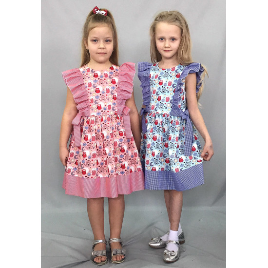 Летнее платье для девочки на лето с воланами - 1