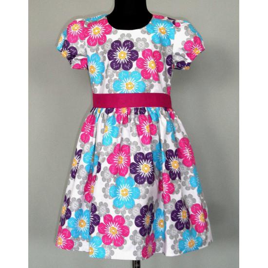 Платье для девочки из турецкого ранфоса - 1