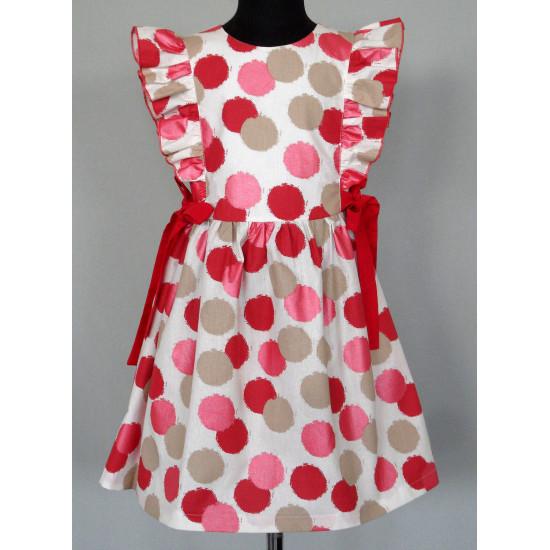 Платье для девочки  из красочной набивной ткани - 1