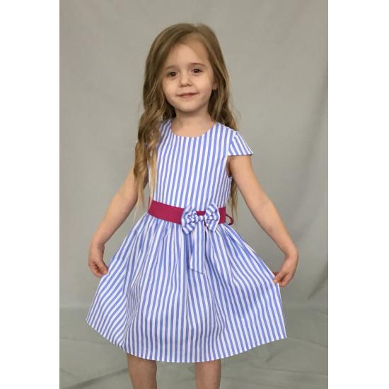 Летнее платья для девочки в полоску - 1