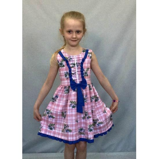 Платье для девочки с коротким рукавом - 1