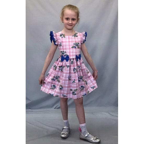 Платье для девочки хлопковое из поплина - 1