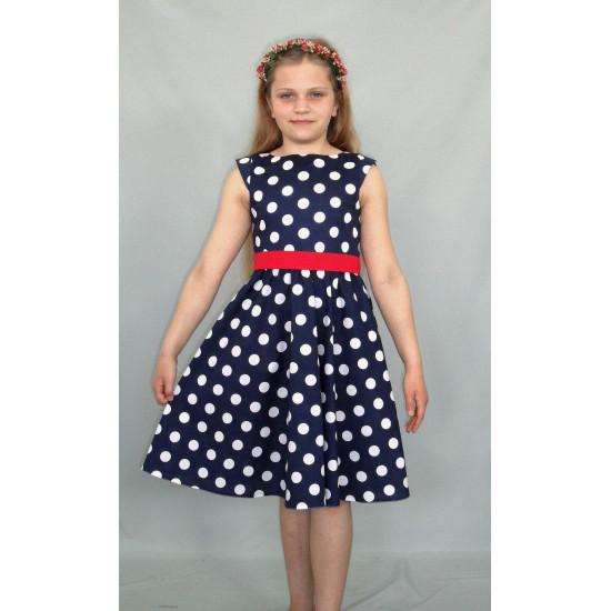 Летнее платье текстильное для девочки - 1