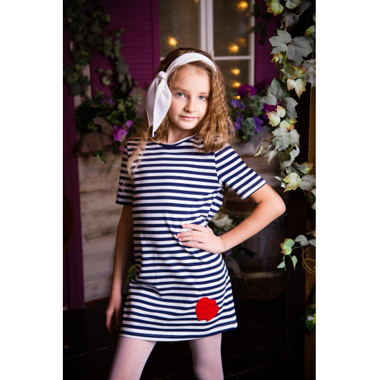 Платье подростковое трикотажное для девочки - 1