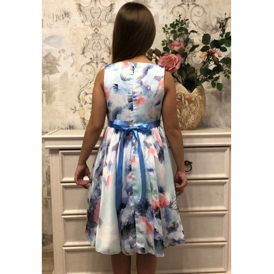 Атласное платье для девочки подростка - 1