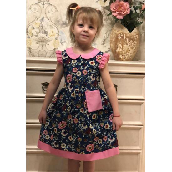 Хлопковое платье для девочки - 1